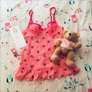 🍧Victoria's Secret Pink Cupcake Babydoll NWOT🍧